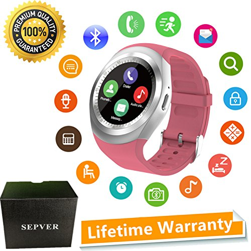 SEPVER Smart Watches Smart Watch SN05 Round Smartwatch with SIM TF Card...