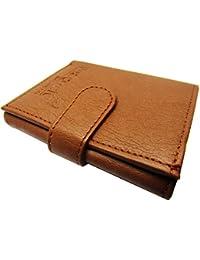 Mens Tan Tri-Fold Wallet With Loopi PM
