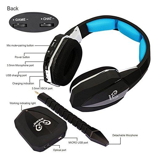 sunrain hw-398 fibra ottica 2.4 G Wireless Professionale Stereo di gioco  Headset Cuffie per PS4 PS3 XBOX ONE xbox 360 a58f45d2fb35