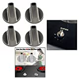 OFKPO 4Pz 6MM Universale Metallo Rotary Interruttore, Cucina Fornello Manopola Locks Superficie di Cottura Forno Interruttore Control