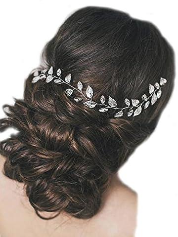 Chicer Hair Vine Bridal Hair Vine Bridal Hair Piece Wedding Hair Piece Crystal Hair Vine Wedding Accessory