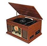 Record Player Vinyl Turntable with Speakers - USB MP3 Playback/ Bluetooth/ FM Radio/
