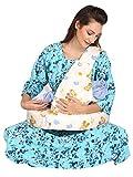 Momtobe Off White Feeding Pillow Hd Foam 100% Cotton Fabric