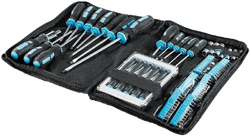 AGT Schraubendreher Set: 100-teiliges Schraubenzieher-Set in praktischer Tasche (Magnet Schraubendreher Set)