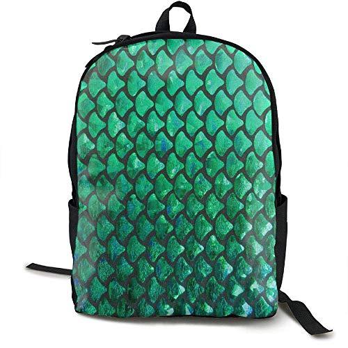 HOJJP Schultasche Mermaid Scales Background School Backpack Girls Teens Bookbag Cute School Bag Set Water Resistant Travel ypack (Girl Cute Teen)