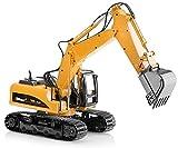 Top Race Metalldruckguss Bagger Bau Spielzeug Traktor, Bagger Spielzeug mit Metallschaufel - TR 211D