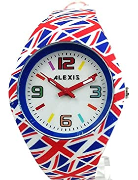 10fw976e NEU weiß Zifferblatt rot Watchcase Silikon Rot Band Damen Frauen Fashion Armbanduhr
