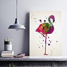 """Lámina para enmarcar """"Pink flamingo"""". Nacnic. Regalos originales para una amiga especial. Laminas para enmarcar con imágenes de animales. Regalo inolvidable para una amiga. Papel 250 gramos alta calidad"""