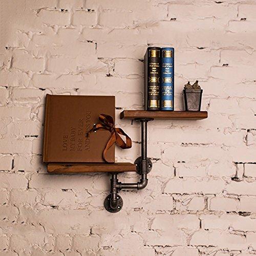 Pipe Racks vent industriel Creative décoration murale Racks de fleurs en bois solide Pack de 2