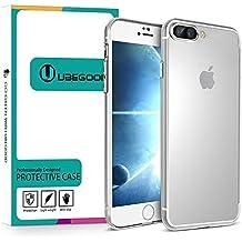 Funda iPhone 7, Ubegood iPhone 7 Funda Carcasa Case Bumper [Shock-Absorción] [Anti-Arañazos] Slim Silicona Case Cover para iPhone 7 -Transparente