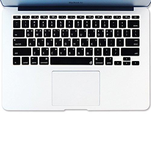 Masino® Silikon Keyboard Cover Ultra Dünn Tastatur Haut für uns und chinesischen Version MacBook Air 27,9cm nicht passt für Europa Version C-KOREAN Language-Black -