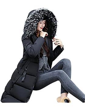 Odejoy Donne Solido Casual Più Spessa Inverno Sottile Giù Cappotto Giacca Overcoat Inverno Donna Lungo Giacca...