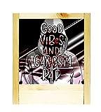 Lámpara de madera natural Gangsta Rap Music