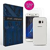 Galaxy S7 Schutzfolien [2 Stück mit Hülle im SET] blasenfreie volle Abdeckung [HD-Klar] Panzerfolie [KEIN Glas, Schutzglas oder Glasfolie] Displayschutzfolie [TPU Folien transparent mit Schutzhülle]