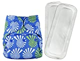Bumberry Reusable Diaper Cover and 2 Wet Free Inserts (3-36 Months)