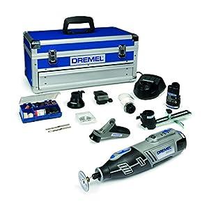 Dremel Akku Multifunktionswerkzeug 8200-5/65 (2x 1,5 Ah Akku, 65tlg. Zubehör Set, 5 Vorsatzgeräte, Werkzeugkoffer, 10,8 Volt)