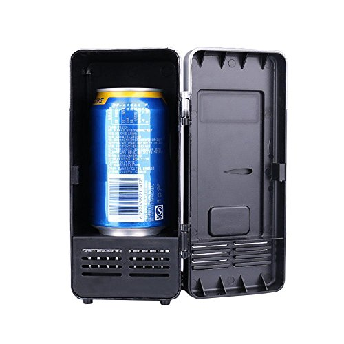 SKAISK Mini-Kühlschrank, tragbarer schwarzer Kühlschrank Elektrischer Kleiner Gefrierschrank Kühlschrank für Outdoor-Sportgetränke