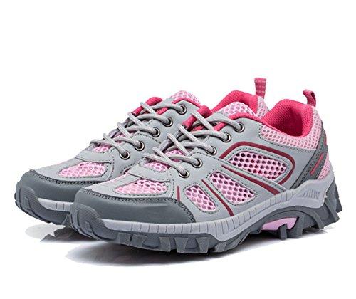 Mesh Atmungsaktive Outdoor-Sport Tragen Rutschfeste Schuhe Mehrfarben Multi-Größe Pink