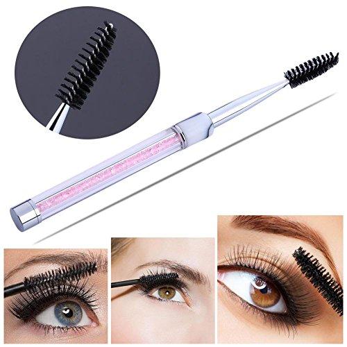 Domybest 1pièce spirale Strass Poignée cils sourcils Brosse Extension Outil de maquillage