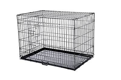 Confidence Pet Dog Folding 2 Door Crate Puppy Carrier Training Cage Without Bed