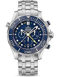 Omega 21230445203001 - Reloj para hombres, correa de acero inoxidable color acero