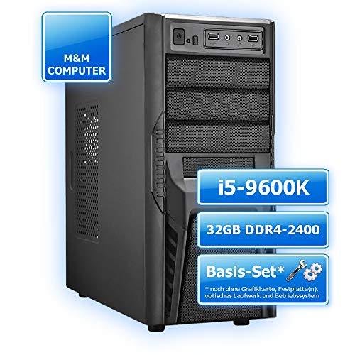 M&M Computer Dresden PC Aufrüstungs Kit Intel Coffee Lake, Intel Core i5-9600K 6 Kerne, 32GB DDR4-RAM 2400MHz, Gigabyte Z370P D3 Mainboard, montiertes Aufrüstset, sehr günstig