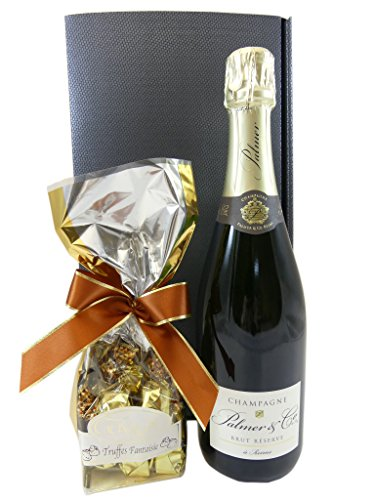 Geschenkset Champagner mit feinsten Trüffeln