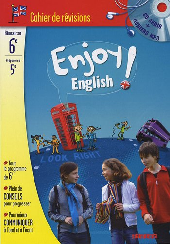 Enjoy English ! : Cahier de révision Anglais 6e à la 5e (1CD audio)