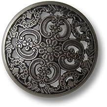 bezaubernde Knöpfe Metall silber antik Ente Ösenknöpfe  20mm 6 Stück