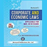 Corporate And Economic Law Applicable for May 2018 Only for New Syllabus CA Final