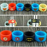 Streifen Vape (Set 6 One von jedem Motiv) 19 mm x 12 mm New Batman Superman Captain America Flash Glow in the Dark Blue and Yellow Superman für RTA AJR Zerstäuber klein uksellingsuppliers
