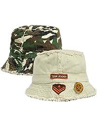 Boys Team Leader Reversible Frayed Seam Bucket Style Beach Hat