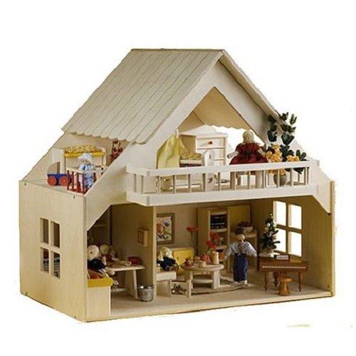 Rülke Holzpuppenhaus 23161 Haus mit Balkon natur