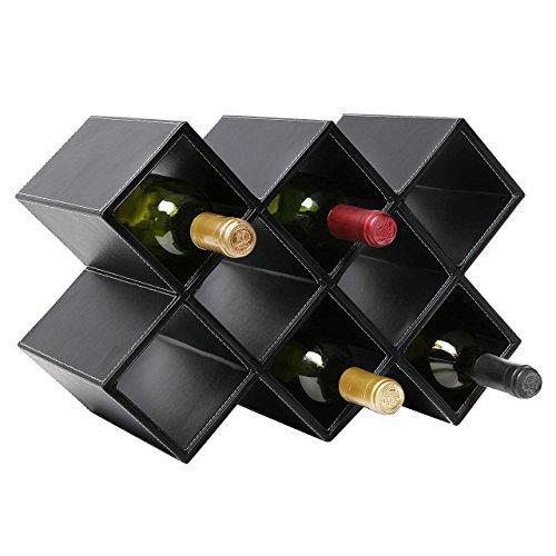 Moderne geometrische freistehend Synthetik Leder Wein Rack/Weinregal Lagerung...