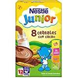 Nestlé - Junior Papillas 8 Cereales Con Cacao A Partir De 12 Meses 600 g - [pack de 3]