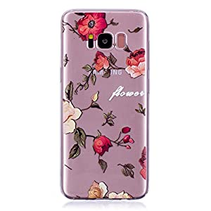 Galaxy S8 Hülle, Samsung Galaxy S8 Hülle, Anlike für Samsung Galaxy S8 (5,8 Zoll) Case / Handy Hülle / Schutzhülle / Handytasche / Cover / TPU Silikon Handy Tasche {Durchsichtig Muster Serie}
