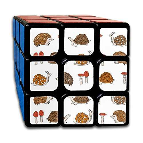 sexy world Woodland Critters Hedgehog Snails Mushrooms Kids Cute Woodland Forest Animals Boys 3x3 Speed Cube Stickerless Magic Cube 3x3x3 Puzzles Toys 2.16 inch (55mm) Sexy Magic Mushroom