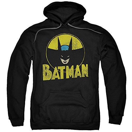 Dc-Circle Bat-Felpa con cappuccio da uomo Black