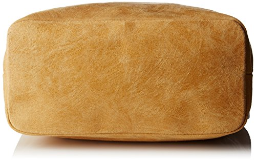 Chicca Borse 80054, Borsa a Mano Donna, 34 x 29 x 14 cm (W x H x L) Arancione (Cuoio)