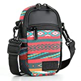 Compact Camera Case Bag for Digital Camera with Rain Cover and Shoulder Sling by USA GEAR - Works With Olympus Pen-F , Stylus SH-3 , Tough TG-870 and Other Compact Cameras - Southwest