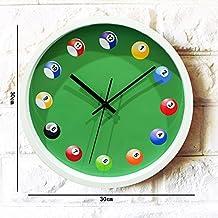 Global- 12 Pouces Simple En Plastique Moderne Ronde Creative Wall Clock, Mode Décoration Domestique Restaurant Bar Pendentif Mural ( taille : 30*30cm )