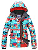 POWERSPACE Women's Ski Snowboard Jacket Waterproof Warm Winter Lined Jacket colorful Printed 915 M