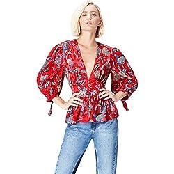FIND Blusa Estilo Kimono para Mujer , Multicolor (Multicoloured Mpr 301), 38 (Talla del Fabricante: Small)