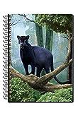 Wild Republic 21287, quaderno, note book, taccuino con immagine in copertina pantera 3D - adatto per la scuola e il tempo libero
