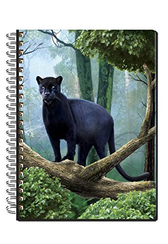 Wild Republic 3D Notebook Carnet Notizbuch 12,5x17cm 50 Blatt (Jaguar)