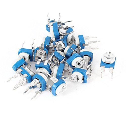 20Stück Vertikal blau weiß verstellbar Widerstand Potentiometer 100Ohm (Widerstand Verstellbarer)