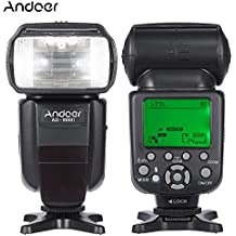 Andoer AD-980II E-TTL HSS 1/8000s maestro y esclavo GN58, Flash Speedlite para Canon 5D Mark III/5D Mark II/6D/5D/7D/60D/50D/40D/30D/700D/100D/650D/600D/550D/500D/450D, cámaras réflex y digitales