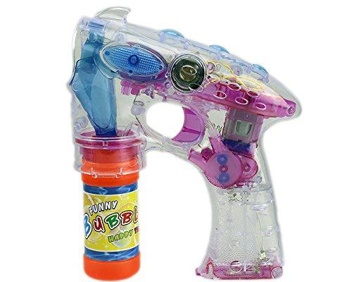 enpistole mit 2x Seifenblasenlauge Set SEIFENBLASEN PISTOLE mit LED und SOUND! 1STK GYD (Bubble Guns Für Hochzeiten)