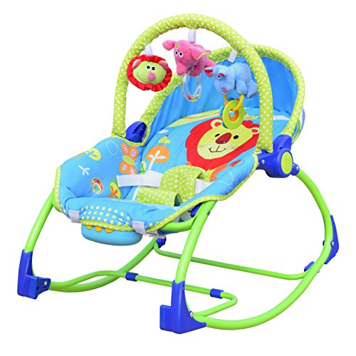 NWYJR Baby Wippe Neugeborene geeignet Vibration bequem Zeit elektrische Multifunktions Musik faltbare automatische Swing Bouncer (Bouncer Faltbar)
