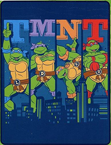 Teenage Mutant Ninja Turtles Silk Touch Überwurf–101,6cm von 127cm–Cowabunga City Ninja. Tmnt Decke